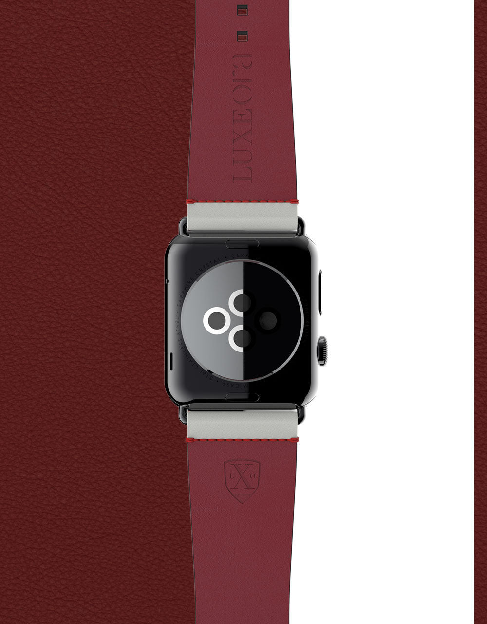 Apple Watch Luxury Leather Element Band 42 Platinum by Luxeora