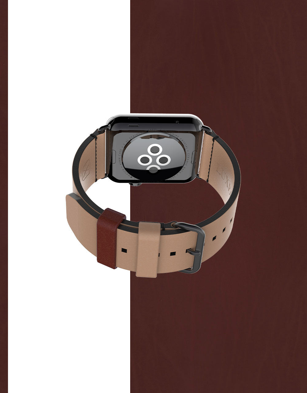 Apple Watch Luxury Leather Element Band 42 Sepia by Luxeora