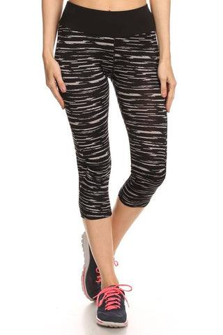 Zebra Cropped Legging
