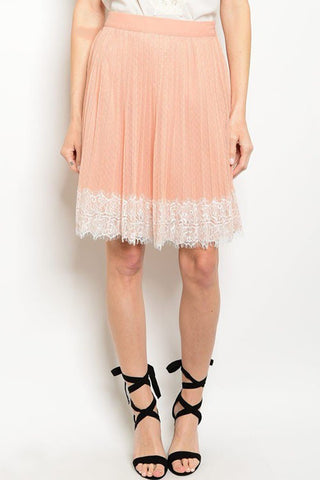 Peach Lacey Skirt