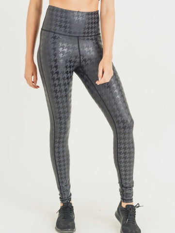 Black Houndstooth Leggings