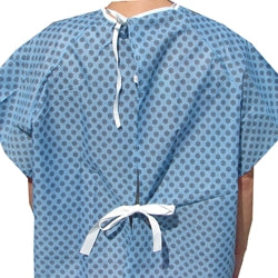 Economy Star Straight Tie Back Closure Hospital Gowns Dozen