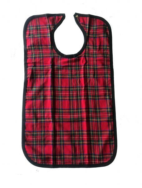 BH Flannel Adult Bib with snap - BH Medwear