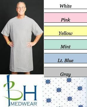 Velcro Closure Hospital Gown - BH Medwear