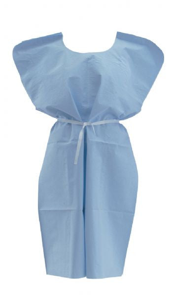X-Ray Examination Gowns - Front/Back Opening Poly Out - (Case of 50) - BH Medwear