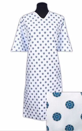 Oversized Hospital Gowns Snowflake Print 40XL BH Medwear Unique Hospital Gown Pattern