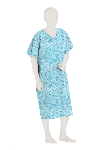 Polyester Patient Gown ( 12 PACK)