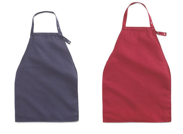 Apron Style Dignity Napkin Bib with Adjustable Snap Closure- 2 Pack or 2 Dozen - BH Medwear - 1