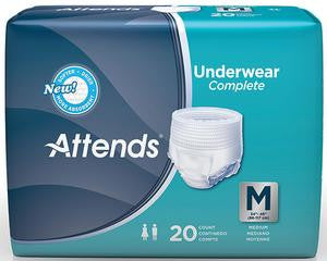 Attends Underwear Super Plus Absorbency with Leakage Barriers (Case of 80) - BH Medwear