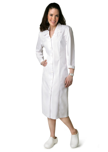 Adar Universal Double Embroidered Collar Dress - BH Medwear