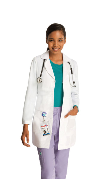 "ADAR Universal Women's 33"" Adjustable Belt Lab Coat - BH Medwear"