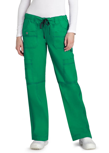 Adar Pop-Stretch Junior Fit Low Rise Multi Pocket Straight Leg Pants Tall - BH Medwear
