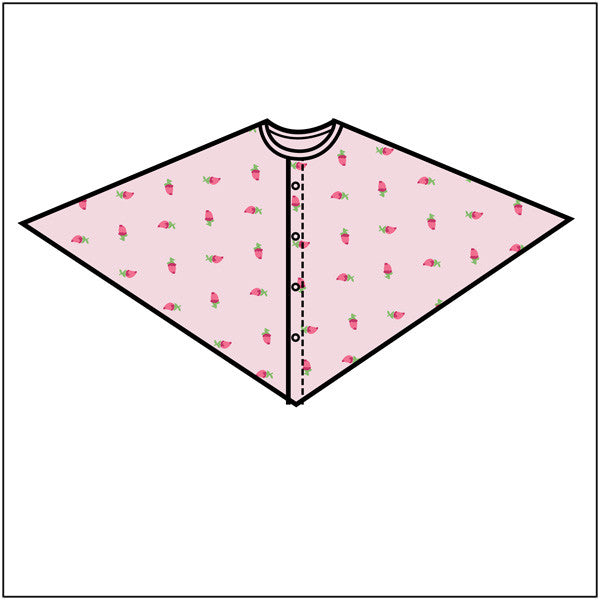 Rose Bud Mammography Cape - BH Medwear - 1