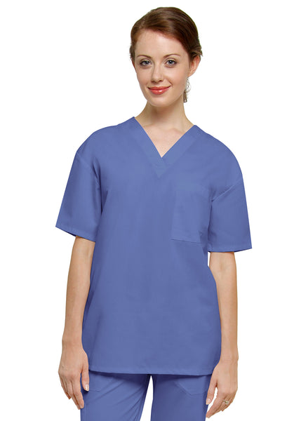 Adar Unisex One Pocket V-neck Tunic Top - BH Medwear