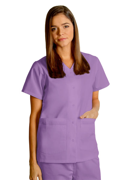 Adar Double Pocket Snap-Front Top - BH Medwear - 7
