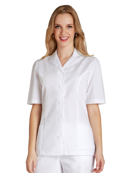 Adar Universal Embroidered Collar Nurse Top - BH Medwear