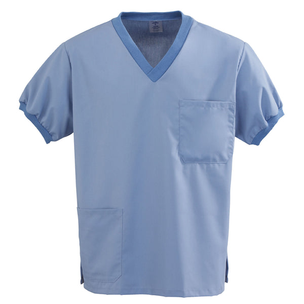 AngelStat Knit Trim Scrub Top - BH Medwear - 1