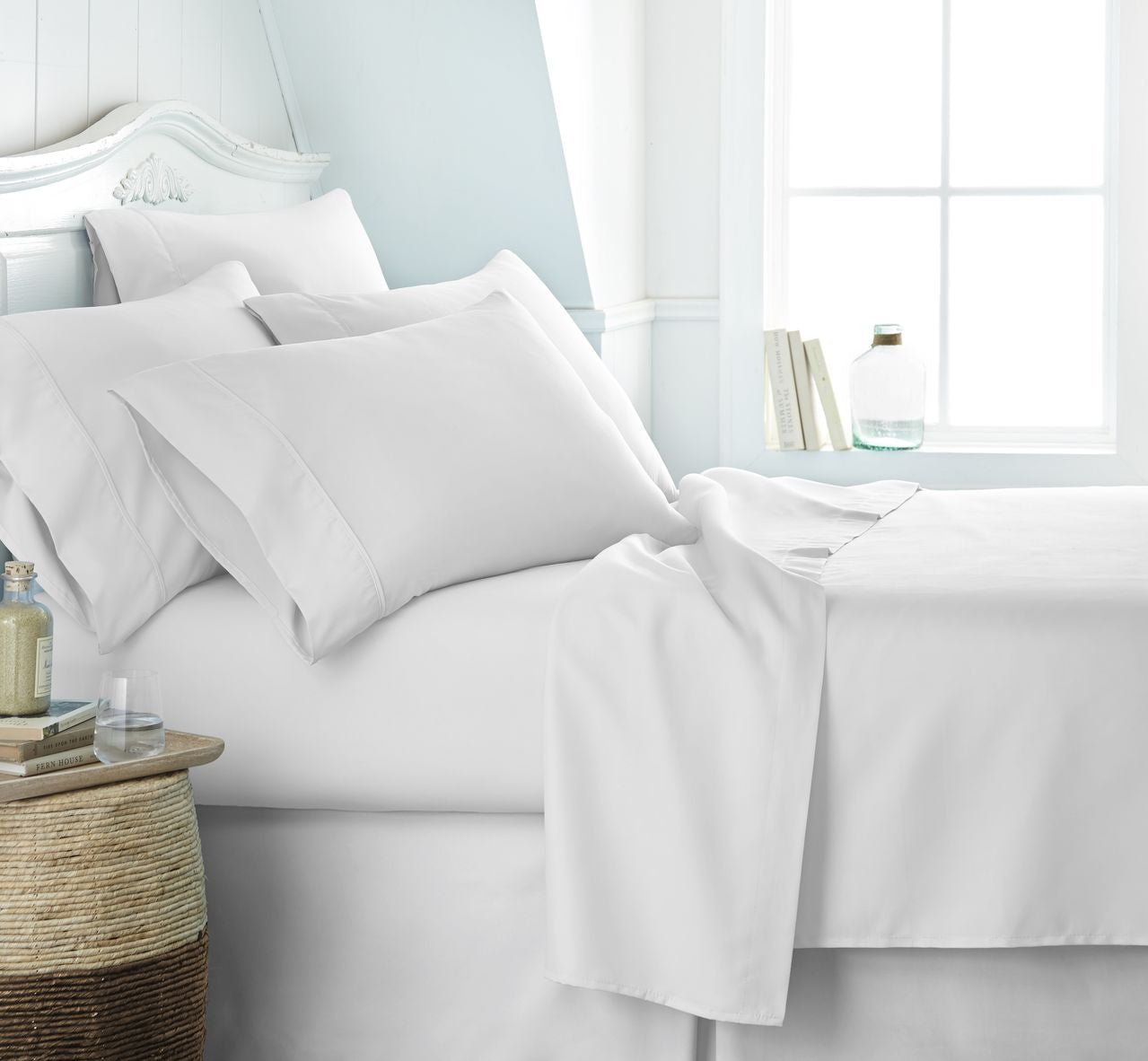 Special bed set 3 pieces 1 fitted sheet 1 flat sheet How to put a fitted sheet on a bed