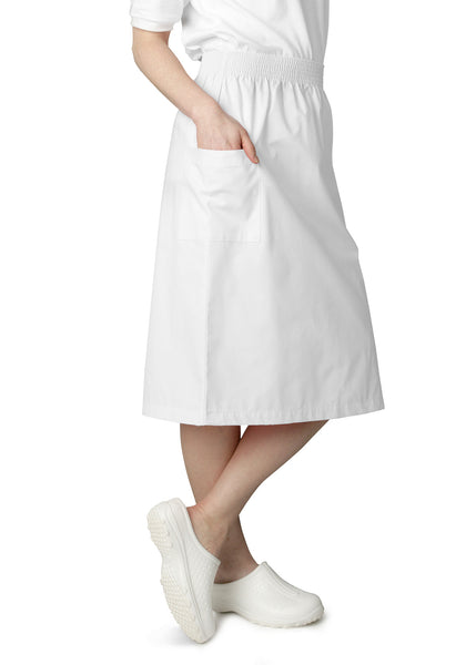 Adar Knee-Length A-Line Patch Pocket Skirt - BH Medwear - 2