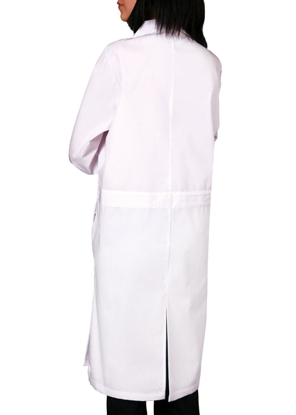 "Adar Unisex 40"" Lab Coat with Midriff Back - BH Medwear - 6"