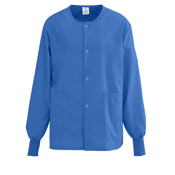 Unisex AngelStat Snap-Front Warm-Up Scrub Jackets - BH Medwear - 11
