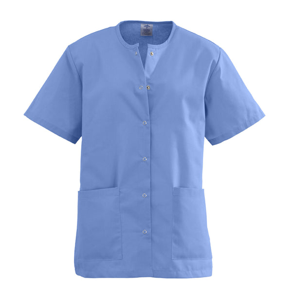 AngelStat Snap-Front Scrub Top - BH Medwear - 1