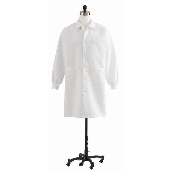 Unisex Knit Cuff Knee Length Lab Coat - BH Medwear