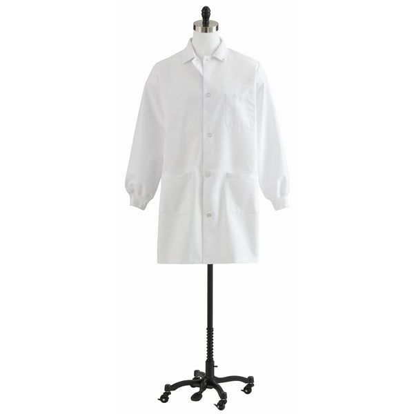 Unisex Knit Cuff Staff Length Lab Coat - BH Medwear - 1