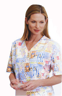 AngelStat Ladies Two Snap Henley Scrub Tops - BH Medwear - 2