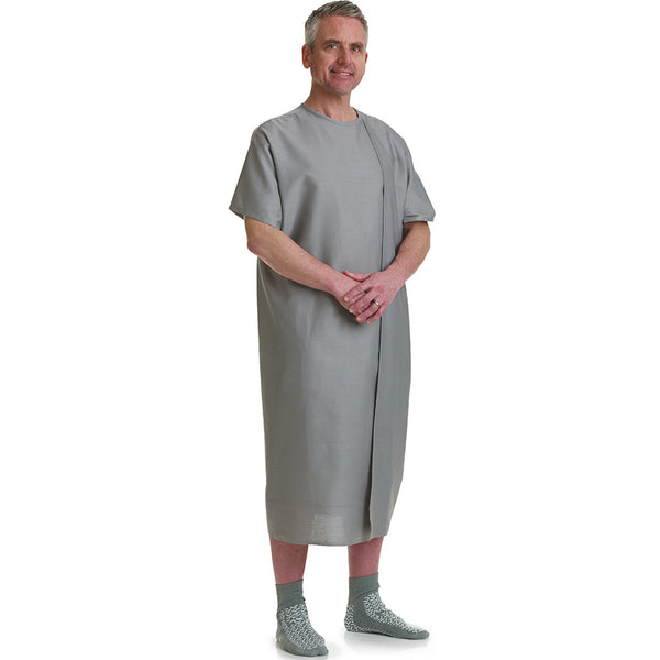 3-Armhole Examination Hospital Gowns Blue or Gray - BH Medwear - 1