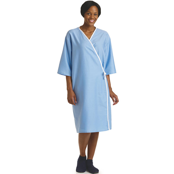 Front Opening  Light Blue Unisex Examination Gown - BH Medwear