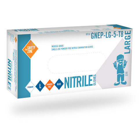 "8 Mil, Powder Free Nitrile, Medical Grade, 12"", Textured Disposable Gloves (Case of 500) - BH Medwear - 2"