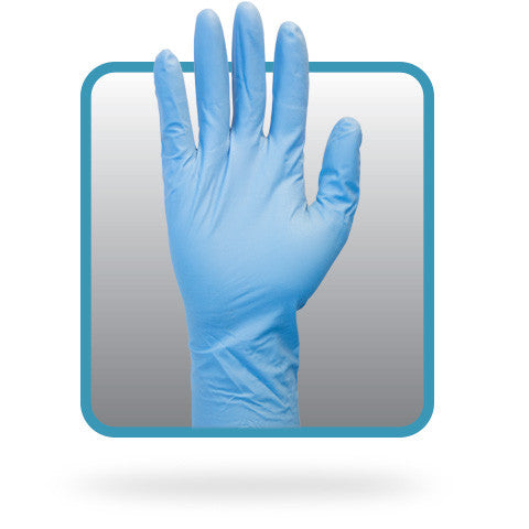 "8 Mil, Powder Free Nitrile, Medical Grade, 12"", Textured Disposable Gloves (Case of 500) - BH Medwear - 1"