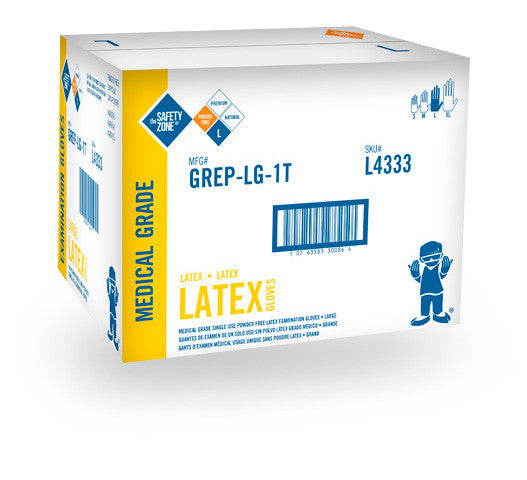 Powder Free Natural Latex Gloves (Case of 1,000) - BH Medwear - 3