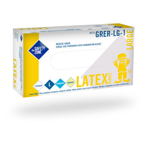 5 Mil Latex, Rolled Cuff, Powdered Examination Gloves (Case of 1,000) - BH Medwear - 2