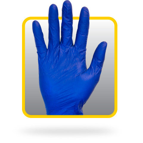 5 Mil Blue Latex, Lightly Powdered, Rolled Cuff, Non-medical Disposable Gloves - BH Medwear - 1