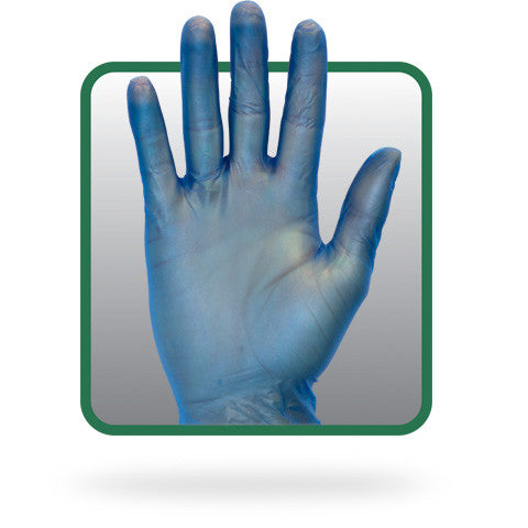 Standard 4 Mil Powdered Blue Vinyl Gloves (Case of 1,000) - BH Medwear - 1