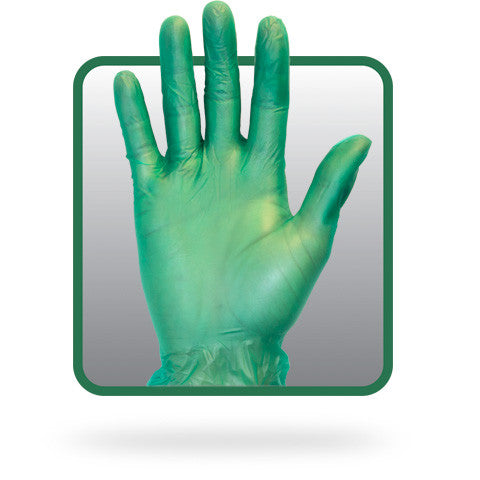 5 Mil Green Vinyl, Powdered, Non-medical Disposable Green Gloves - BH Medwear - 1