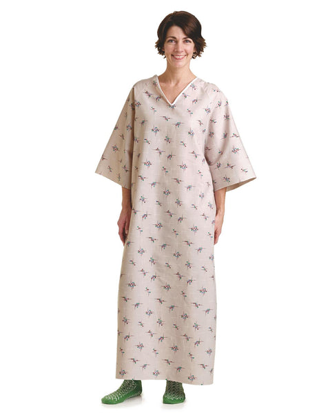 Back Open Tie-side Patient Gowns Galaxy Print - BH Medwear