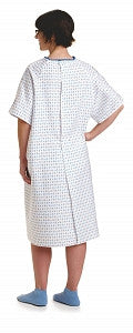 Overlap Snap Back Closure Gowns with I.V. Sleeves (1 Dozen) - BH Medwear - 2