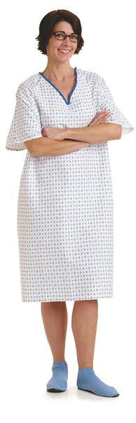Overlap Snap Back Closure Gowns with I.V. Sleeves (1 Dozen)