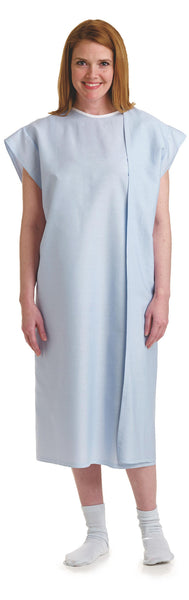 3-Armhole Examination Hospital Gowns Blue or Gray - BH Medwear - 2