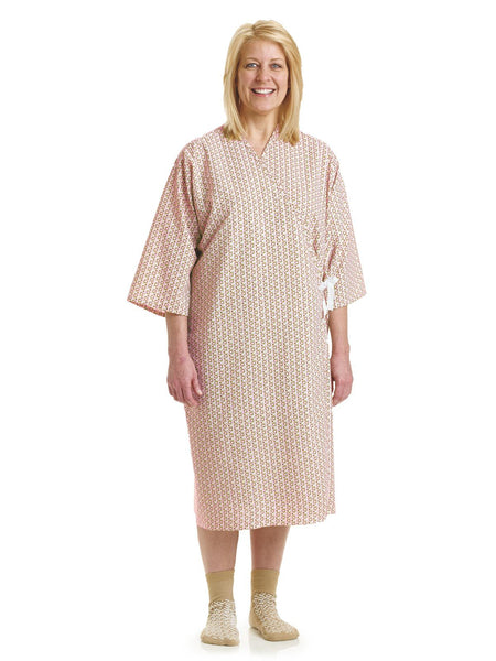 PerforMAX Front Open Patient Gowns Bubbles Print - BH Medwear