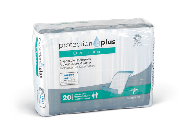 Protection Plus Fluff-Filled Disposable Underpads  (Deluxe Weight) - BH Medwear - 1