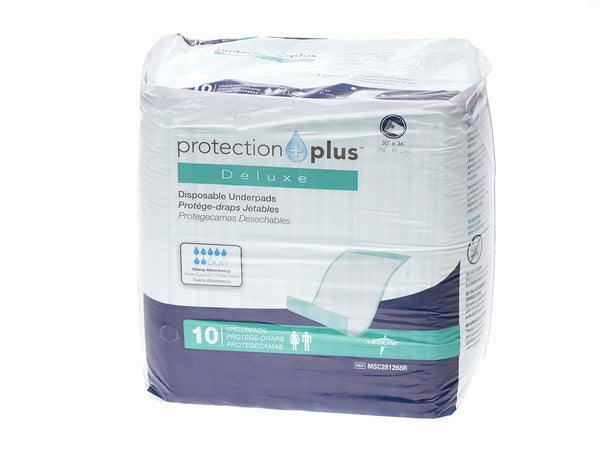 Protection Plus Fluff-Filled Disposable Underpads  (Deluxe Weight) - BH Medwear - 2