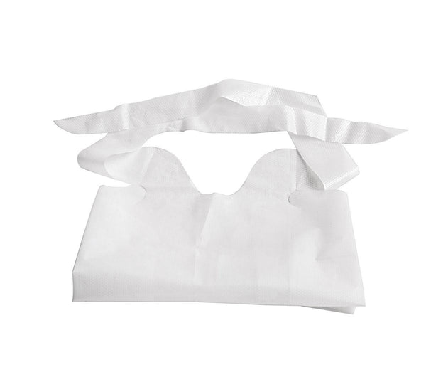 Disposable Plastic Bibs with Crumb Catcher - BH Medwear - 2