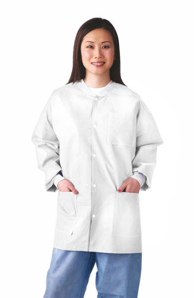 Antistatic Classic Lab Jackets (Case of 30) - BH Medwear - 3