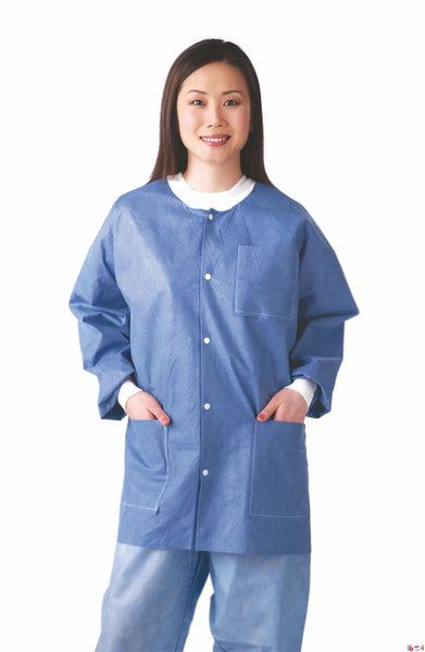 Antistatic Classic Lab Jackets (Case of 30) - BH Medwear - 2
