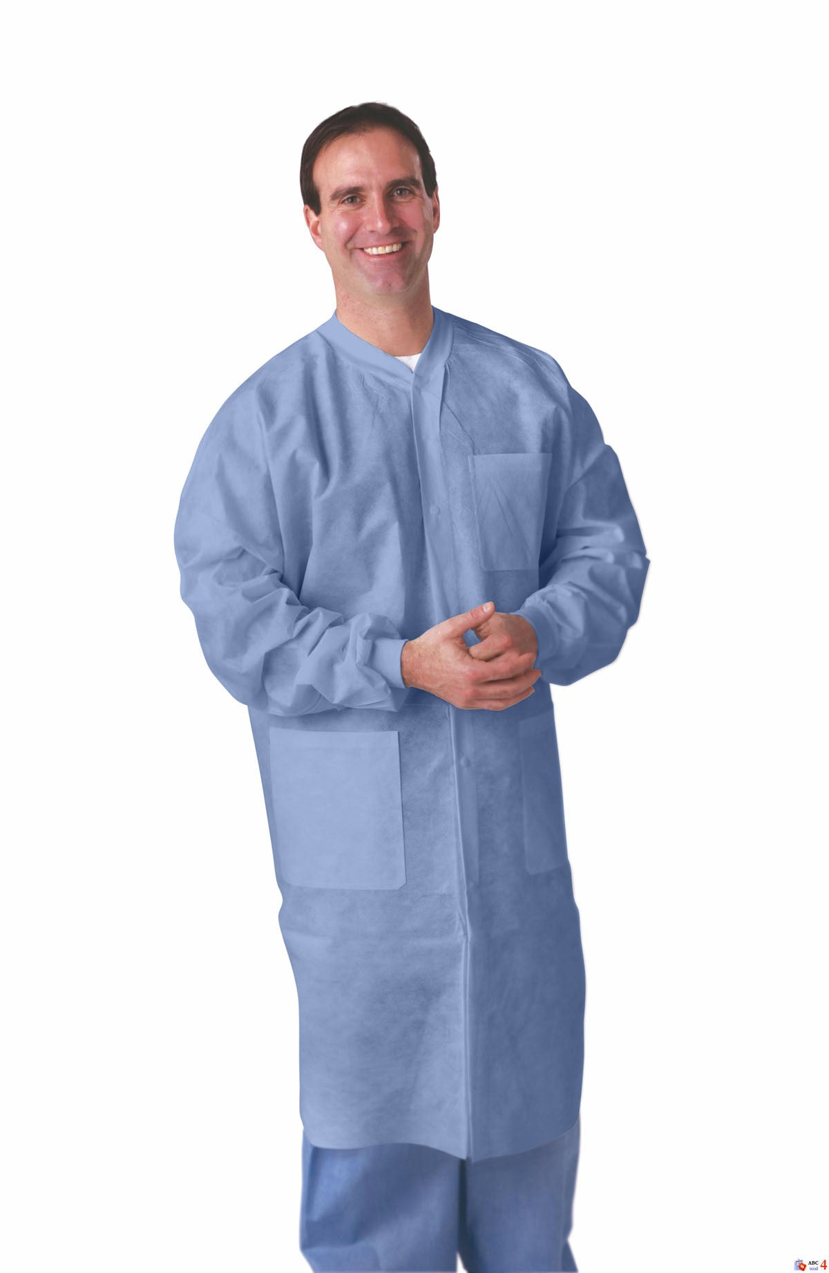 Sms Lab Coats Blue Or White With Knit Collar Amp Cuffs Case