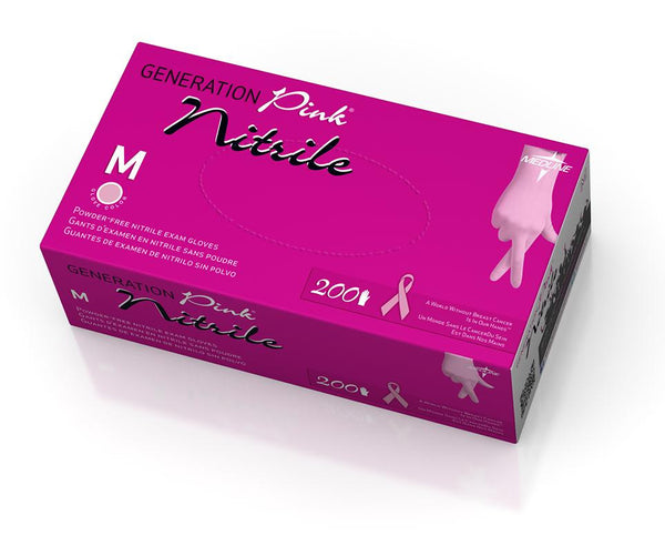 Generation Pink Nitrile Exam Gloves case of 2000 pcs - BH Medwear - 1